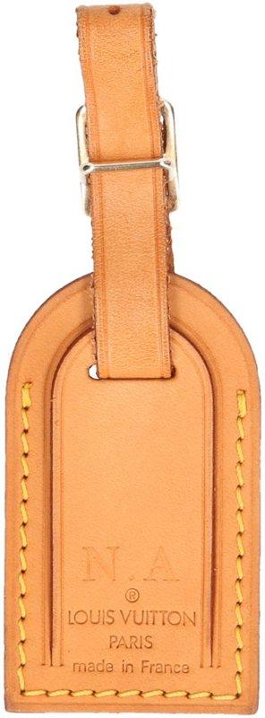 39786 Louis Vuitton kleiner Adressanhänger mit Initialen aus VVN Leder