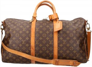 39793 Louis Vuitton Keepall 50 Monogram Canvas mit Schulterriemen Reisetasche, Weekender, Tasche