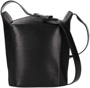 39799 Louis Vuitton Sac Stau aus Epi Leder in Noir Schwarz Tasche, Handtasche, Schultertasche