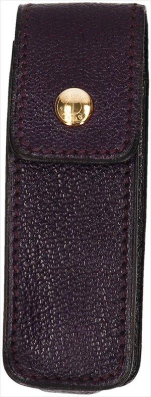 39804 Hermès Etui aus Leder in Aubergine