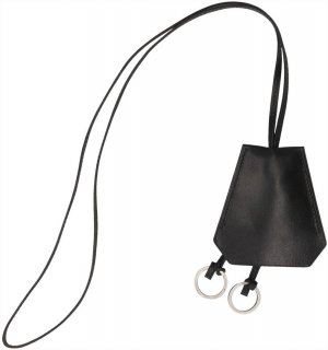 Hermès Key Chain black-silver-colored leather