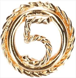 39814 Chanel Brosche aus goldfarbenem Metall mit Box