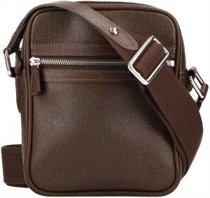 39849 Louis Vuitton Dimitri Umhängetasche, Handtasche aus Taiga Leder in Grizzly Braun