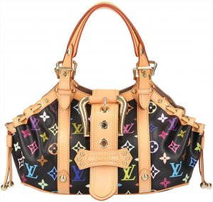 39850 Louis Vuitton Theda GM Monogram Multicolore Canvas Tasche Handtasche Henkeltasche Schwarz