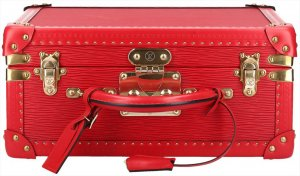 Louis Vuitton Maleta rojo-color oro