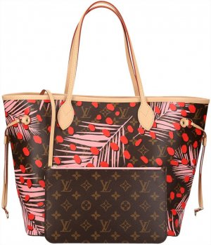 39902 Louis Vuitton Neverfull MM aus Monogram Jungle Canvas Tasche, Handtasche, Schultertasche