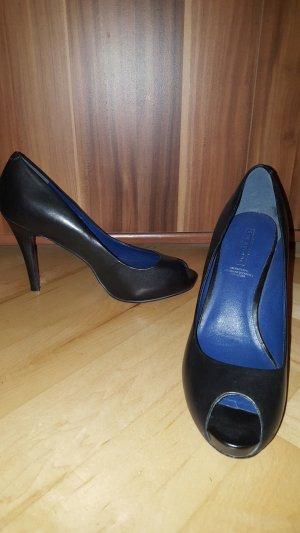 5th Avenue Hoge hakken zwart-blauw Leer