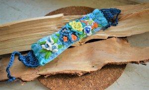 3D Stickerei Armband ,Blumen,Boho Folk Schmuck
