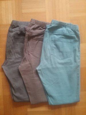 3er Pack Stoffhosen/ Leggings mit Gummizug in Gr.L/XL