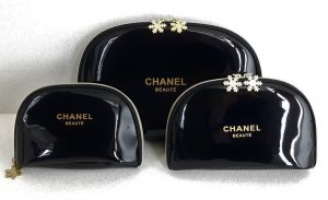 Chanel Pochette black-gold-colored imitation leather