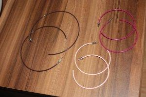 3er Set Ohrringe, braun, rosa, magenta Creolen, Orsay / Xanaka, versch. Größen