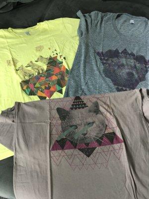 American Apparel T-shirt multicolore Cotone