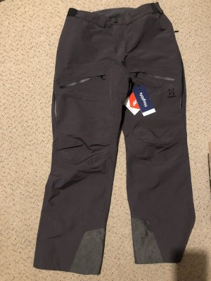 Haglöfs Pantalone da neve grigio scuro-nero