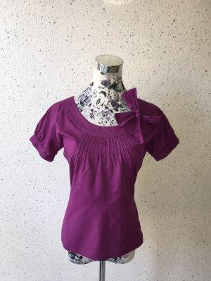 3Suisses Bluse mit Schleife, violett; Größe 34