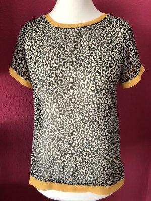 3Suisses Collection Blusenshirt schwarz-ecru mit gelber Einfassung