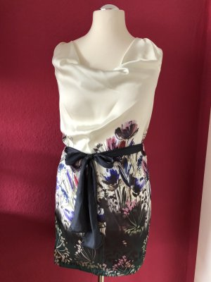 3 Suisses Dress cream-dark violet polyester