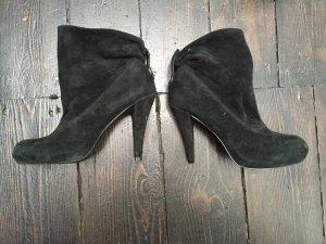 3suisses echt Wildleder Leder Blogger Highheels Boots Stiefeletten 36