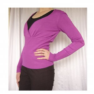 3suisses Feinstrick Pullover / Shirt violett 36