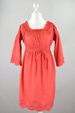 3Suisses Kleid mit Carmenkragen und Spitze rot Größe 36