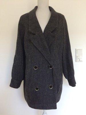 3Suisses Mantel schwarz grau Oversized Boyfriend