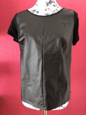 3Suisses schwarzes Top aus Kunstleder