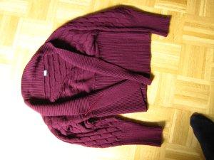 3Suisses, Strickjacke, bordeaurot und schön warm