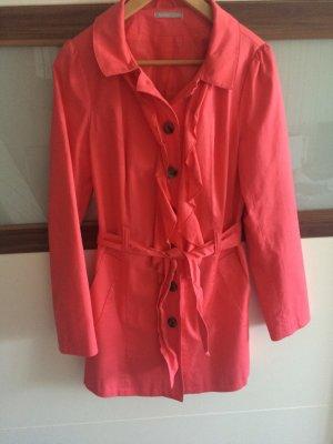 3Suisses Trenchcoat mit Rüschen pink