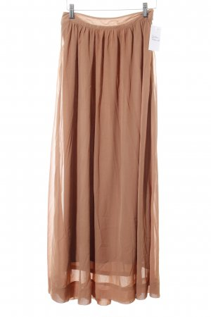 3suissescollection Maxi Skirt light brown simple style