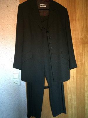 3teiliger Anzug in dunkelgrün