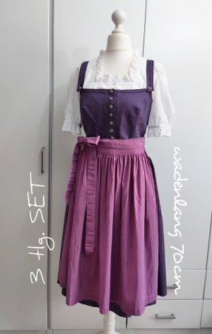 Edelweiß Vestido Dirndl violeta-azul