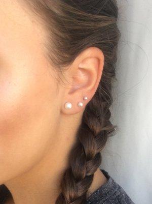 3x Piercing Ohrring Helix Labret Perle 316L Chirurgenstahl 3mm 4mm 1,2mm Stabstärke 7mm Stablänge