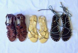 3x Sandaletten Gr. 39 und 38/39