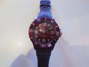 3x Uhren, lila, dk. lila, rosa, Kautschuk Band, Ice Watch