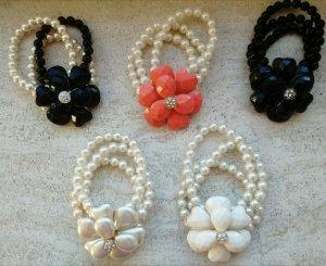 4 Armbänder Set Perlenarmband