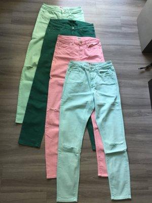 4 Jeans Marke: SET und ASOS Größe 36, 28/32 grün, blau, rosa