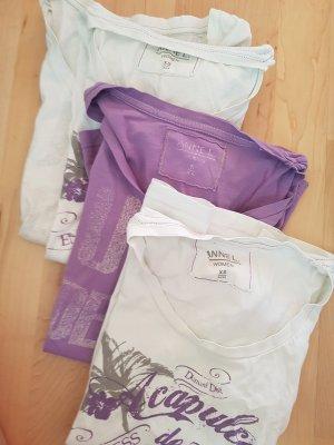 Anne L. T-Shirt white-purple