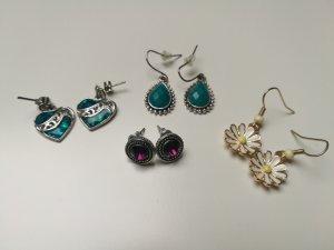 4 verschiedene Ohrringe