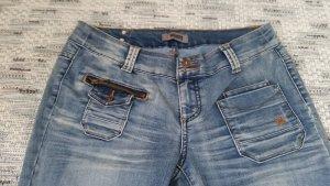 4Wards Jeans a zampa d'elefante azzurro-blu fiordaliso