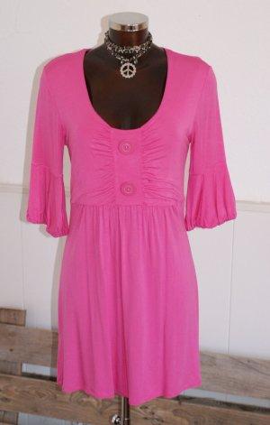 40 APART edles Tunika Jerseykleid Flamingo Kleid Longshirt Strandkleid NEU