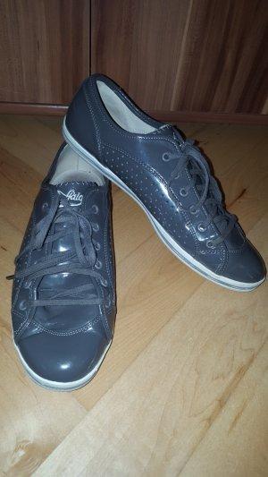 40 Buffalo Echtleder Sneaker NP120€ Schuhe Schnürschuhe grau