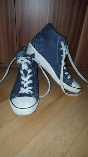 40 Chucks blau Keilabsatz high top sneakerr