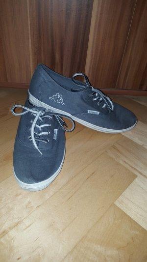 40 Kappa Schnürschuh Stoffschuh Sneaker grau Canvasstoff