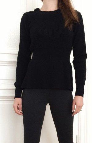 400€ Lawrence Grey Luxus Pullover tailliert weich & kuschelig Wolle schwarz Strick XS 34