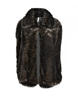 409€ Sale Paris Blogger Fur Cape Streetstyle Winter Jacke PFW