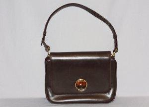 """40er Jahre """"Goldpfeil"""" Tasche Bernsteinverschluss Leder Vintage"""