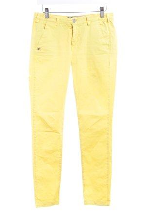 40Weft Stoffhose gelb Casual-Look