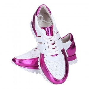 42542 Kennel & Schmenger Sneaker Schuhe in Größe 38,5 (5,5) in den Farben weiss & metallic-pink