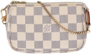 42701 Louis Vuitton Mini Pochette Accessoires Damier Azur Canvas Tasche - Handtasche