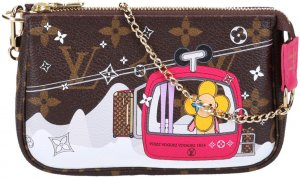 42703 Louis Vuitton Mini Pochette Accessoires Clutch Handtaschen aus Monogram Canvas