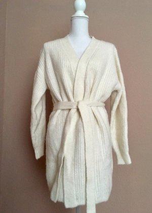 H&M L.O.G.G. Giacca in maglia bianco-beige chiaro